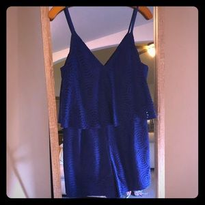 Lilly Pulitzer blue lace romper